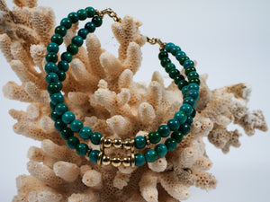 Frances Ricketts Chrysacolla Bead Bracelet