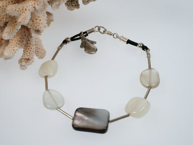 Frances Ricketts Moonstone and Shell Bracelet