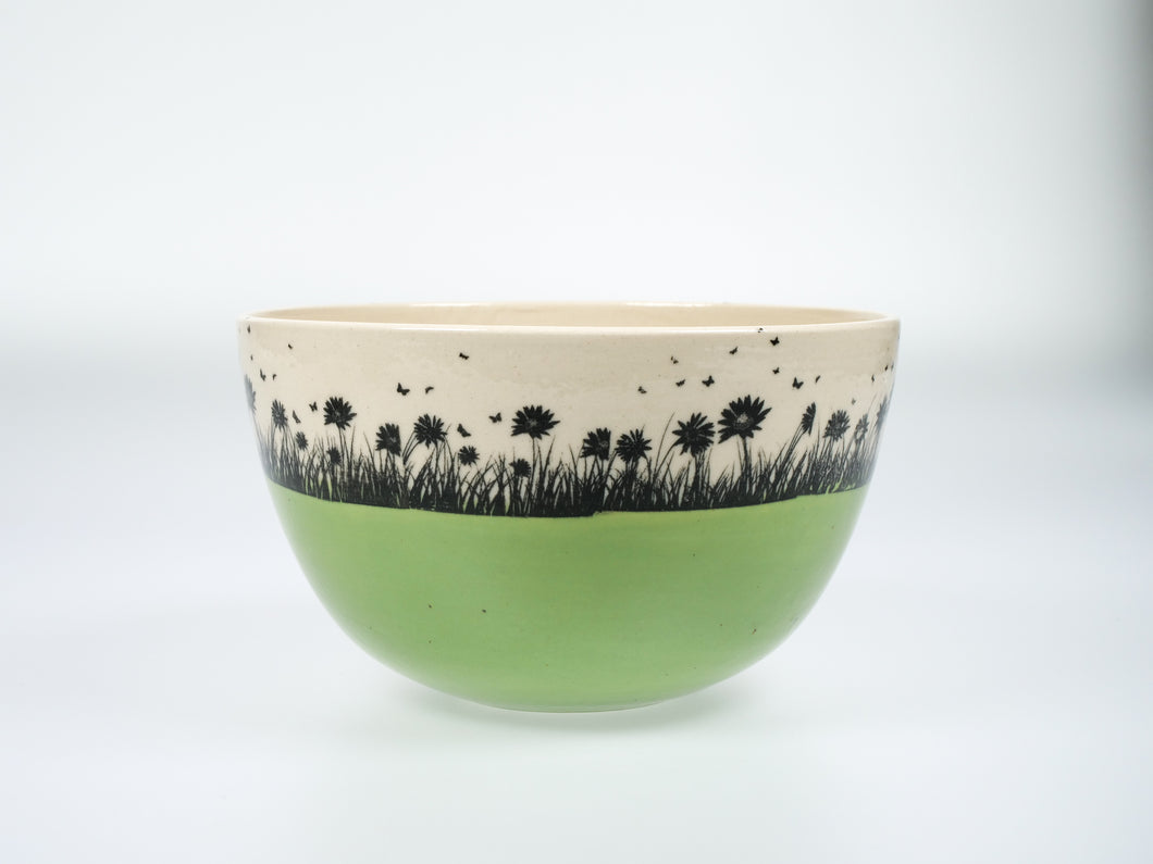 Cecily Willis Green Glazed Bowl