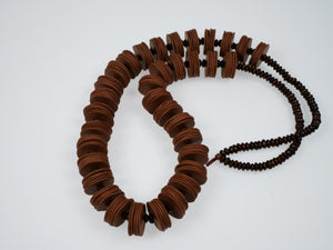 Cheryl Young Clay Disc and Coconut Bead Necklace