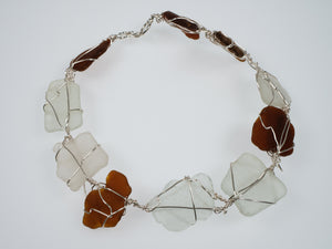 Penny Cello Beach Glass and Wire Necklace