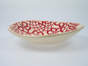 Virginia Boyanton Red Patterned Bowl