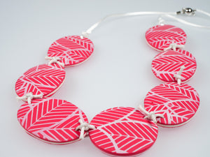 Cheryl Young Silkscreened Polymer Clay Necklace