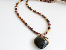 Load image into Gallery viewer, Frances Ricketts Small Ocean Jasper Heart Necklace