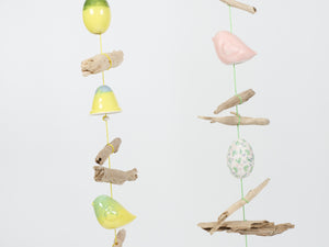 Dawn Beasley Driftwood and Porcelain Windchime