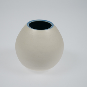 Dawn Beasley Small Porcelain Round Pot
