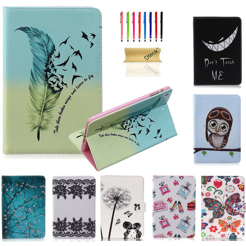 Flower Floral Design Flip Stand Magnet Closure Cover for Apple iPad Mini 3/2/1
