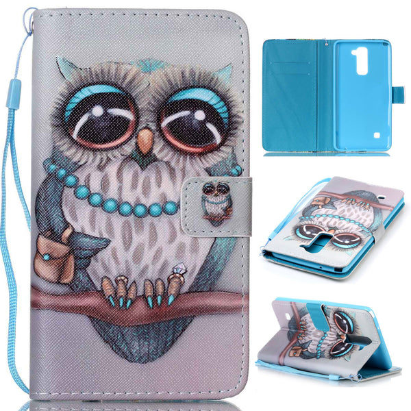 LG G Stylo 2 Wallet Case,Dteck(TM) Ultra Slim Magnetic Closure Protector Cover with Wrist Strap