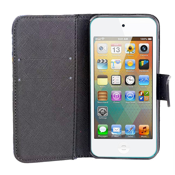 iPod Touch 5 Case, iPod Touch 6 Case, Dteck(TM) PU Leather Stand Wallet Magnet Case [Cards/Money Holder] Flip Fold Cover