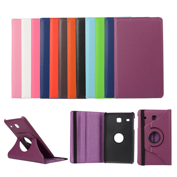 For Samsung Galaxy Tab E 8.0 T377 Case, 360 Degree Rotating PU Leather Cover