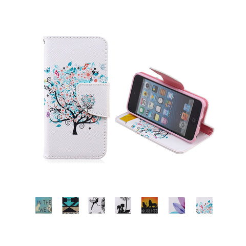 iPod Touch 5th 6th Gen Case, Dteck(TM) Fancy Cute PU Leather Stand Card Holder Protective Cover