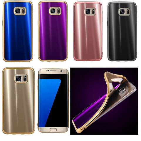 For Samsung Galaxy S7 Case, Fashion Slim Soft TPU Glossy Rubber Skin