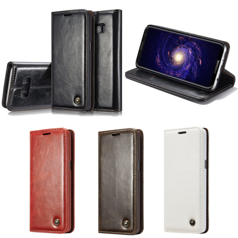 For Galaxy S8 Plus Case, Dteck(TM) Vintage Style [Stand Feature] [Credit Card] Premium Flip Cover