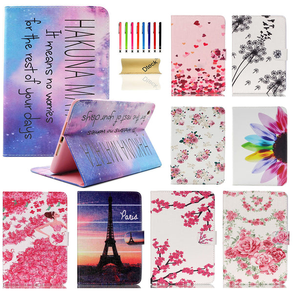 Cartoon Cute Design Flip Stand PU Leather Wallet Case Cover for Apple iPad Mini 1/2/3