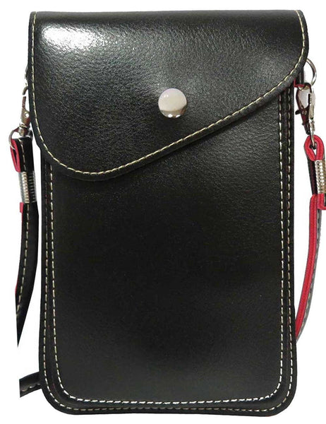 Universal PU Leather Two Layers Mobile Phone Pouch