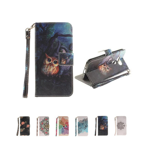 LG K7/ Tribute 5/ LG K8 Case,  Escape 3/ Phoenix 2 Case, Dteck(TM) Leather Flip Folio Stand Cover