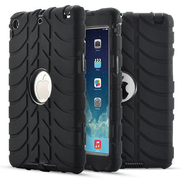 For iPad Mini 1/2/3 Case, 3 in 1 Heavy Duty Rugged Shockproof Hybrid Cover for Kids