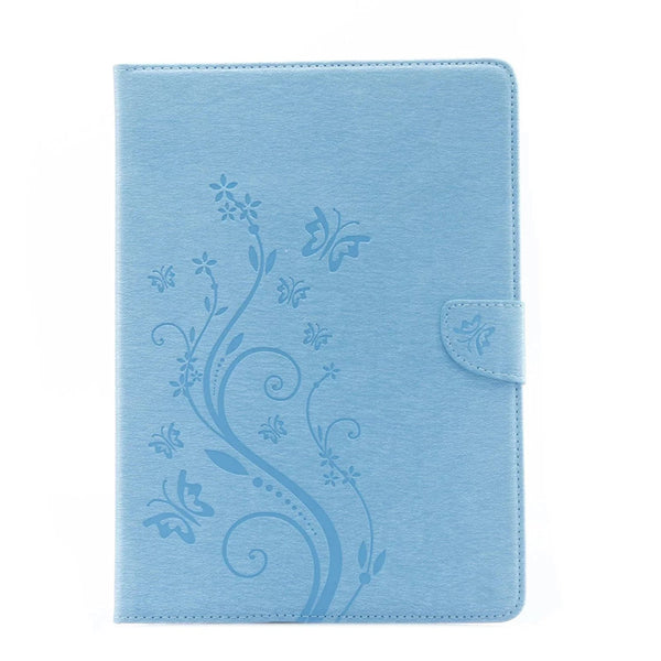 iPad Pro 9.7 Case, Dteck(TM) Vintage Folio Flip PU Leather with Embossed Flower Series Magnetic Closure Stand Cover