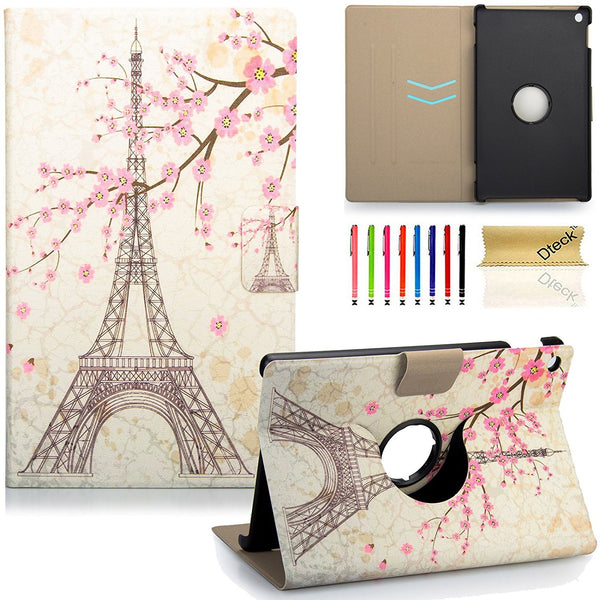 For Fire HD 8''  2016 6th Gen Case, Slim Leather [Auto Wake/Sleep] Flip Stand Cover