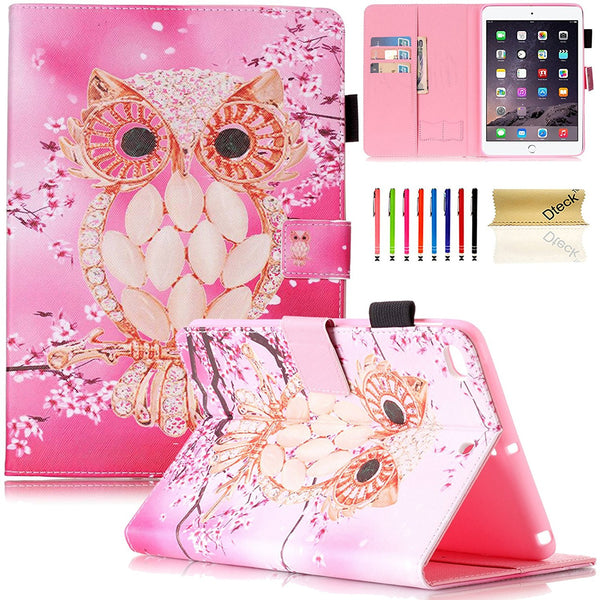 Cartoon Cute Flip Folio PU Leather Magnetic Cover for Apple iPad Mini 3/2/1