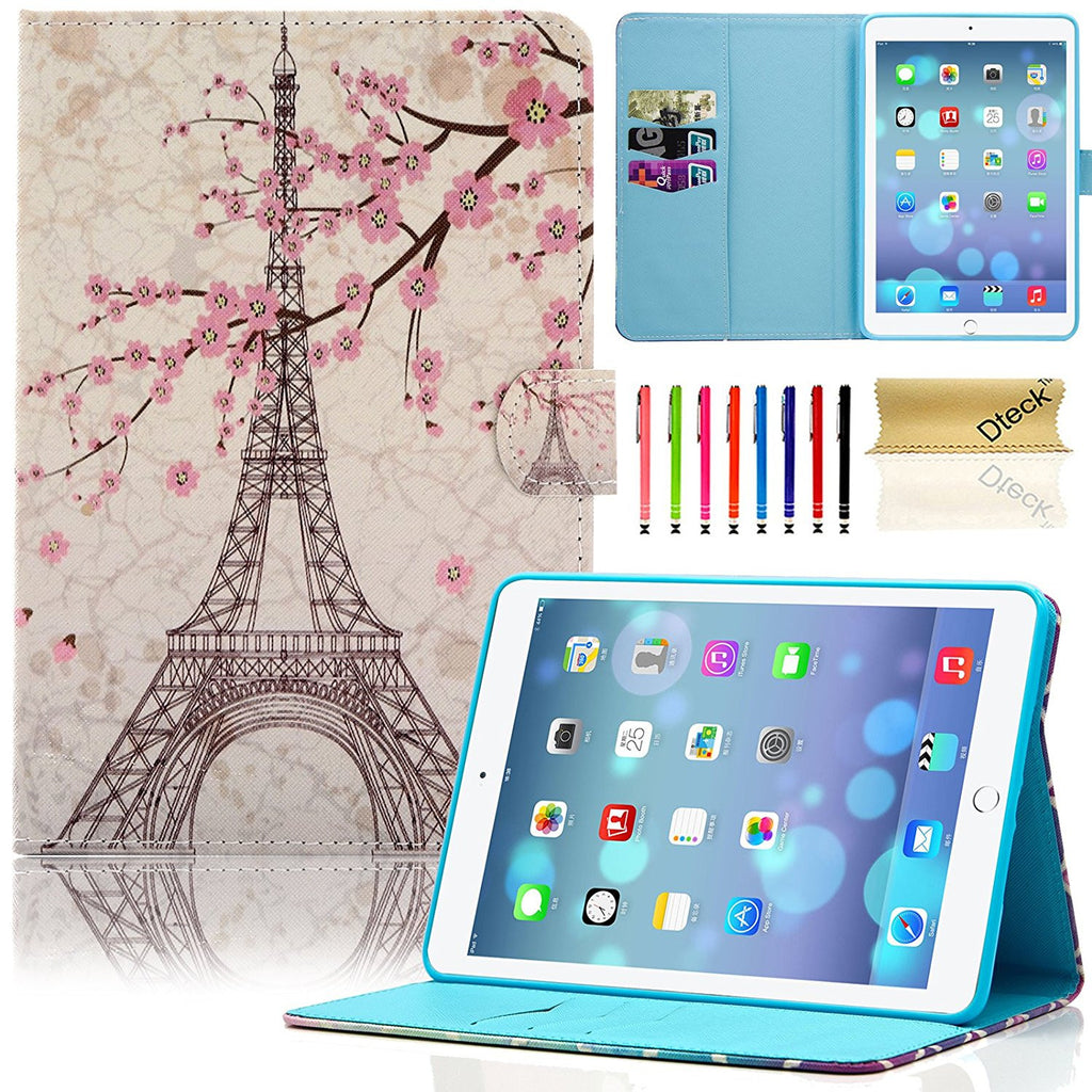 For Mini 1/2/3 Case, Colorful Painting PU Leather Kickstand Smart Cover