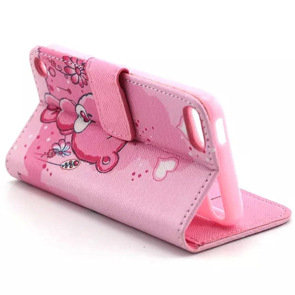 iPod Touch 5 Case, iPod Touch 6 Case, Dteck(TM) Fancy Cute PU Leather Stand Wallet Type Magnet Case