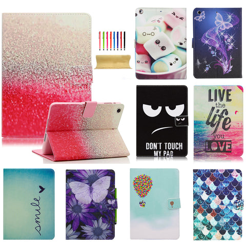 Unique Beautiful Design PU Leather Folio Stand Smart Cover for Apple iPad Mini 1/2/3