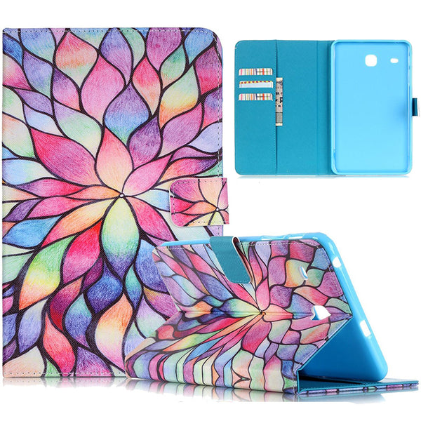 For Samsung Galaxy Tab E 8.0 SM-T377/SM-T375 Case, Wallet Cover with Card Slots