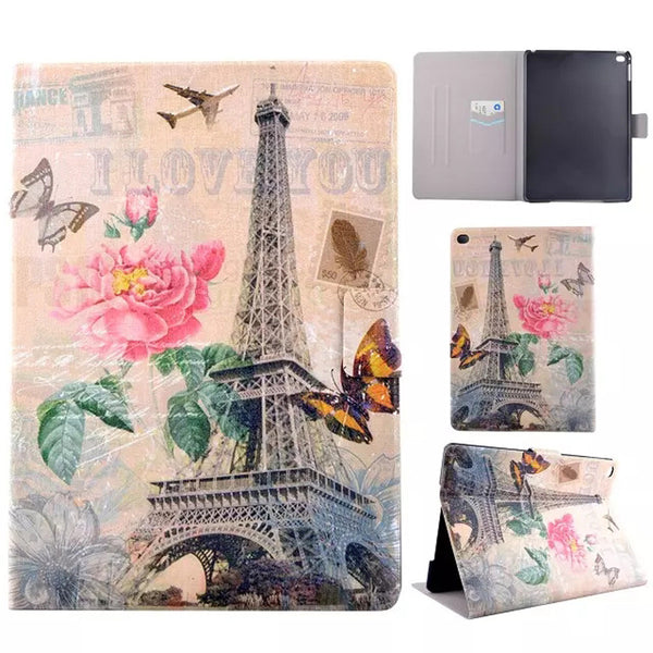 Fashion Pattern PU Leather Stand Card Slot Smart Cover For iPad Mini 4