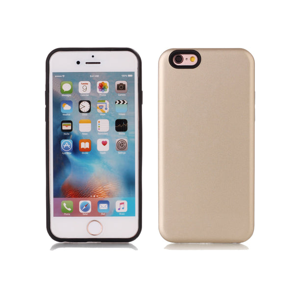 For iPhone 6/6S Case, 2-in-1 Soft TPU Dual Layer [Hard PC+Soft Silicone] Protector Cover