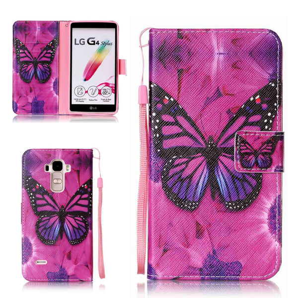 LG G Stylo/LG G4 Stylus (LS770) Wallet Case,  Dteck(TM) PU Leather Various Pattern Kickstand Cover