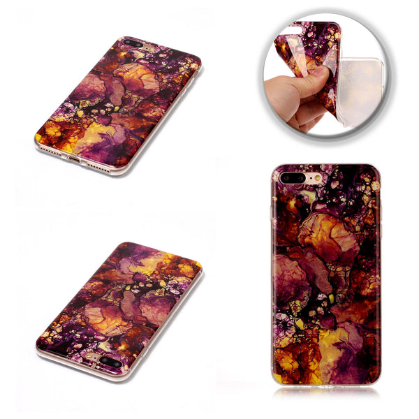 Dteck(TM) Colorful Granite Marble Grain TPU Soft Back Case For Apple iphone 7 Plus
