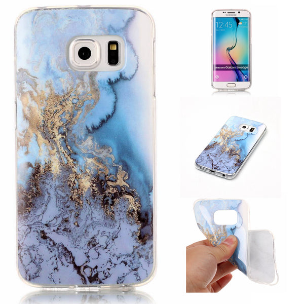 For Samsung S6 Edge Case, Dteck(TM) Marble Granite Pattern Soft TPU Case Cover