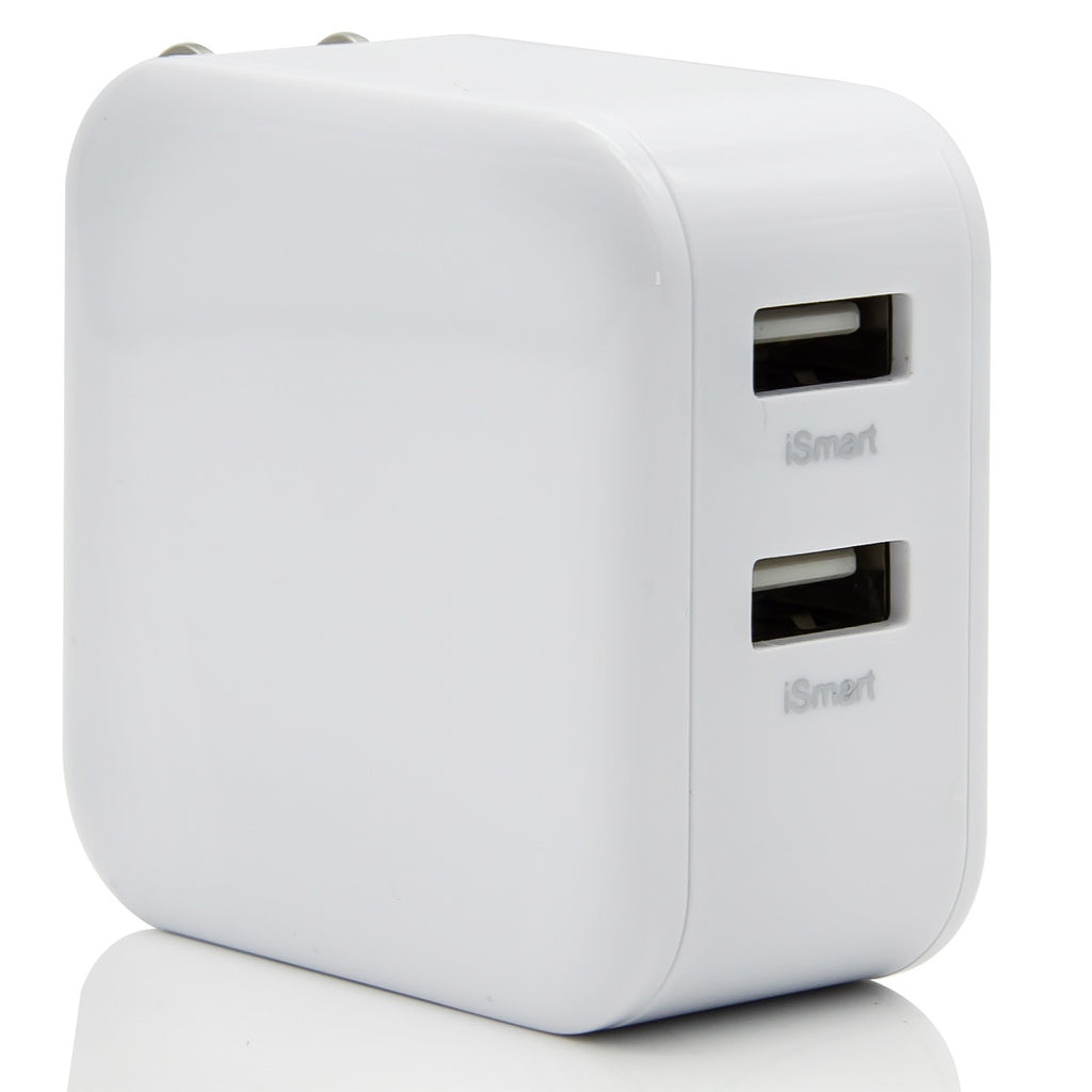 Wall Charger, Dteck 24W Dual Ports USB Power Adapter Smart IC Technology with Foldable Plug for Phone, Tablets and More, White