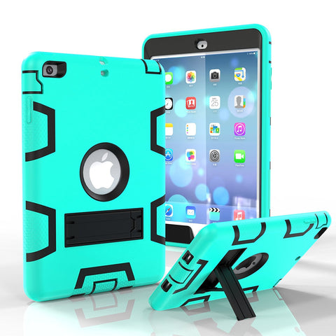 For Mini 1/2/3 Case, Dual layer Shockproof Hybrid Anti-slip Armor Protective Kickstand Cover