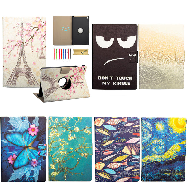 "For Fire HDX 7"" 2013 Case, PU Leather [Auto Wake/Sleep Function] Flip Stand Cover"