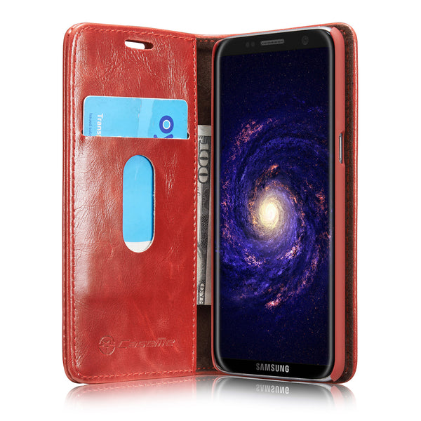 For Samsung Galaxy S8 Wallet Case, Dteck(TM) Business Leather Folio Flip Stand Cover Shell