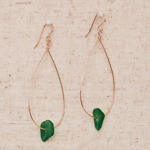 Large Seaglass - Green & Gold