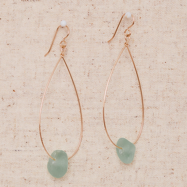 Large Seaglass - Gold & Seafoam