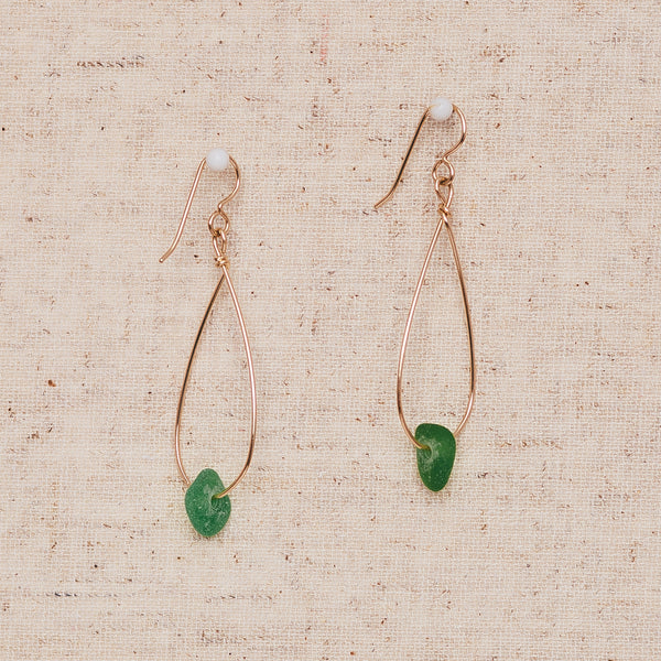 Small Sea Glass - Gold & Green