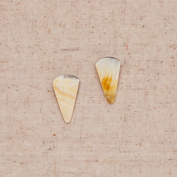Triangle Stud - White