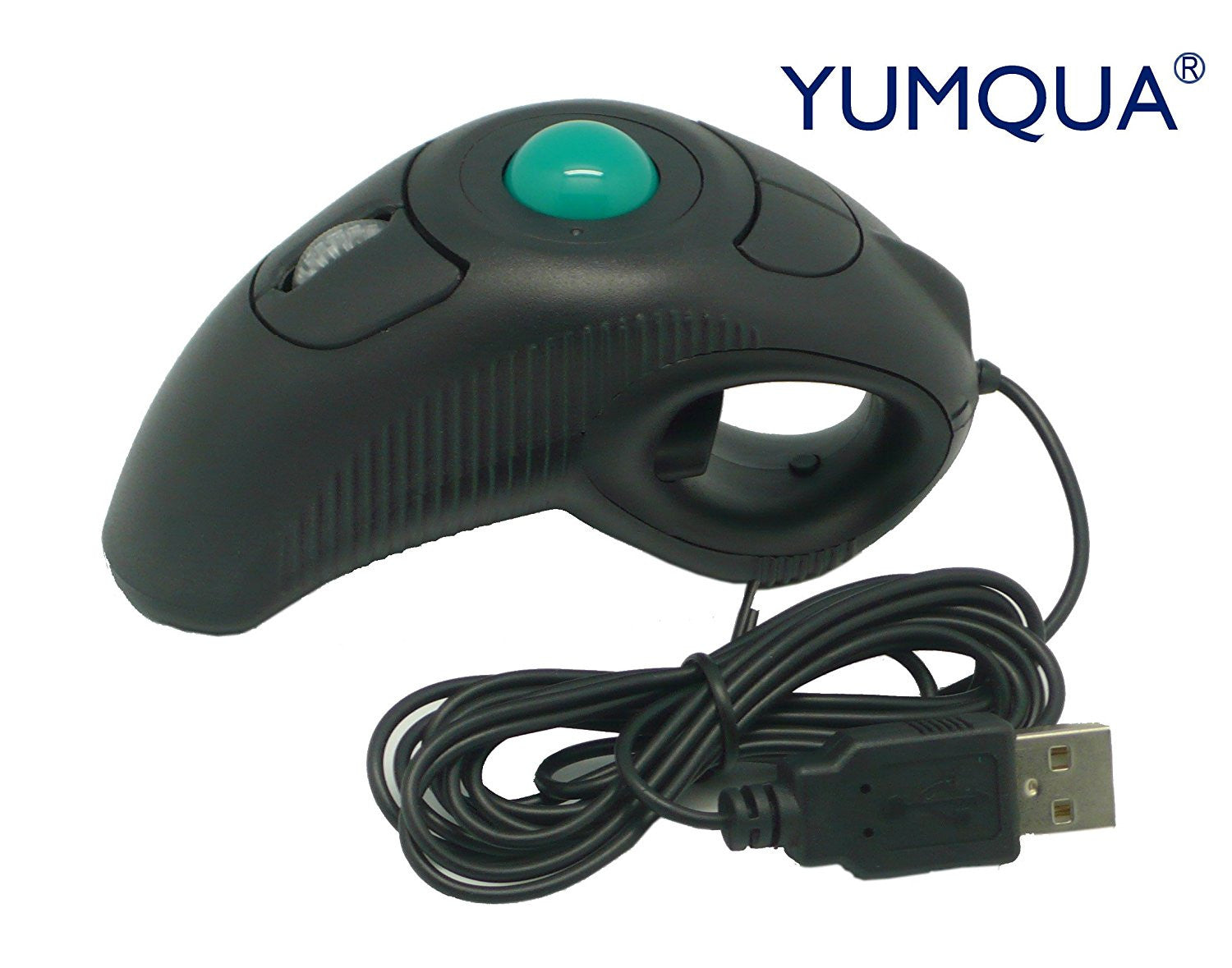 YUMQUA Y 10 Portable Finger Handheld 4D Wired USB Trackball Mouse For Left Right