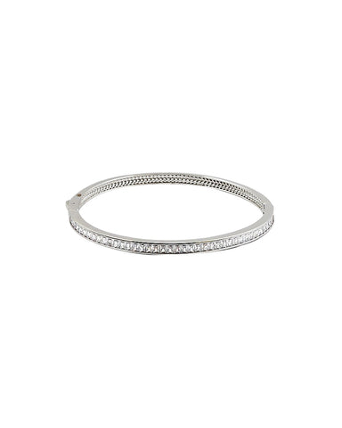 BITZ EMERALD CUT CZ BRACELET BANGLE