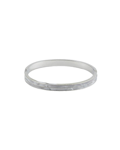 BITZ MOTHER OF PEARL CUFF BANGLE