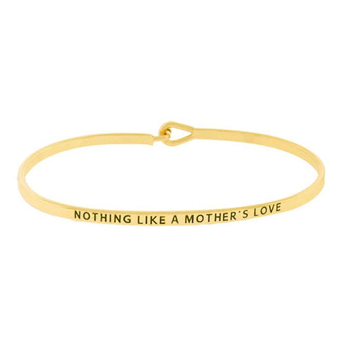 BITZ  MOTHER'S LOVE MESSAGE BRACELET GOLD