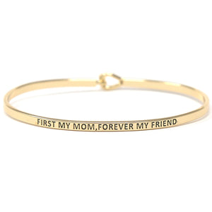 "BITZ ""FIRST MY MOM FOREVER MY FRIEND"" MESSAGE BRACELET"