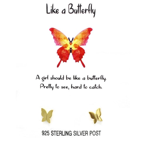 BITZ STORY: LIKE A BUTTERFLY STUD EARRINGS