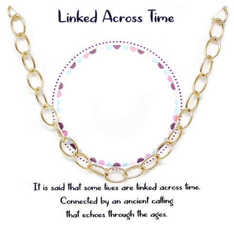 BITZ STORY: LINKED ACROSS TIME SHORT CHAIN NECKLACE