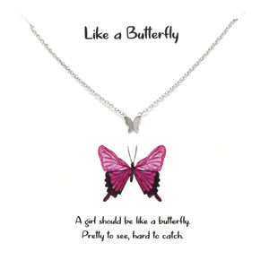BITZ STORY: LIKE A BUTTERFLY PENDANT SIMPLE CHAIN NECKLACE