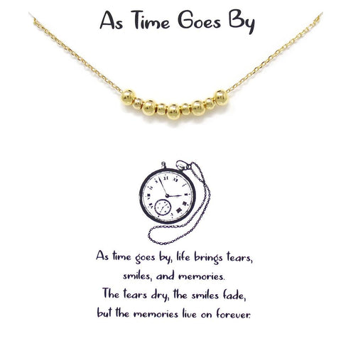 BITZ STORY: AS TIME GOES BY SHORT CHAIN NECKLACE